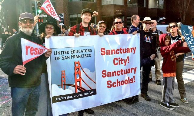 United Educators of San Francisco rally
